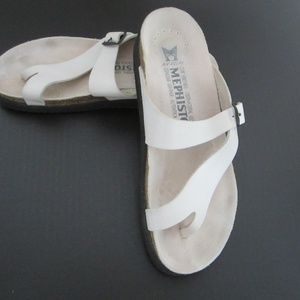 Mephisto White Nubuck Leather Sandals Women's 42